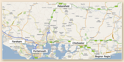Our Upholsters cover a 20 mile radius of Portsmouth, including Chichester, Petersfield, Emsworth, Fareham, Southampton.